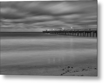Lonely Morning At The Pier Metal Print by Andres Leon