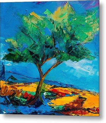 Lonely Olive Tree Metal Print by Elise Palmigiani