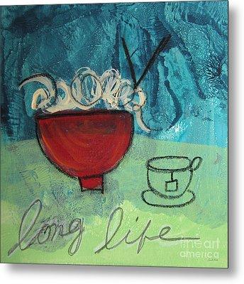 Long Life Noodles Metal Print by Linda Woods