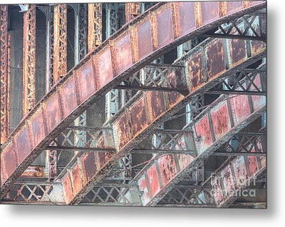 Longfellow Bridge Arches I Metal Print by Clarence Holmes
