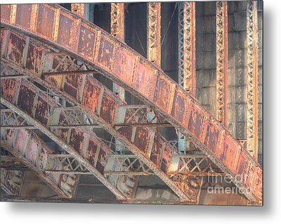 Longfellow Bridge Arches IIi Metal Print by Clarence Holmes