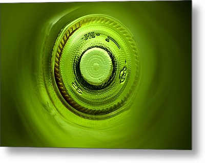 Looking Deep Into The Bottle Metal Print by Frank Tschakert