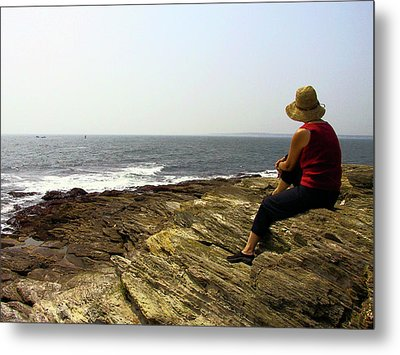 Looking Out To Sea Metal Print by Frank Winters