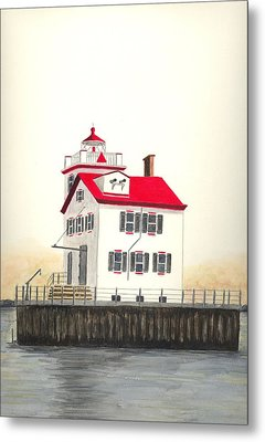 Lorain Lighthouse Metal Print by Michael Vigliotti