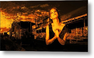 Lord Let Him Come Home From Iraq Metal Print by Jeff Burgess