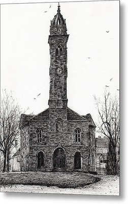 Lorne And Lowland Parish Church Metal Print by Vincent Alexander Booth