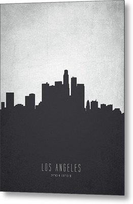 Los Angeles California Cityscape 19 Metal Print by Aged Pixel