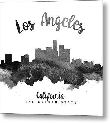 Los Angeles California Skyline 18 Metal Print by Aged Pixel