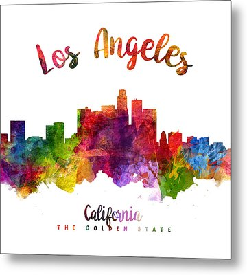 Los Angeles California Skyline 23 Metal Print by Aged Pixel