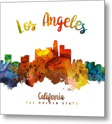 Los Angeles California Skyline 26 Metal Print by Aged Pixel