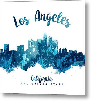 Los Angeles California Skyline 27 Metal Print by Aged Pixel