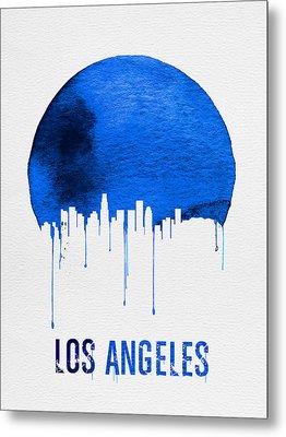 Los Angeles Skyline Blue Metal Print by Naxart Studio