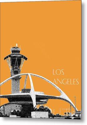 Los Angeles Skyline Lax Spider - Orange Metal Print by DB Artist