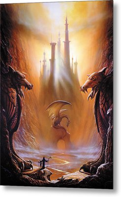 Lost Valley Metal Print by The Dragon Chronicles - Garry Wa