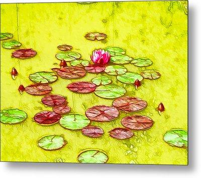 Lotus Flower On The Water 2 Metal Print by Lanjee Chee