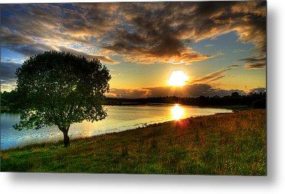 Lough Erne Sunset Metal Print by Kim Shatwell-Irishphotographer