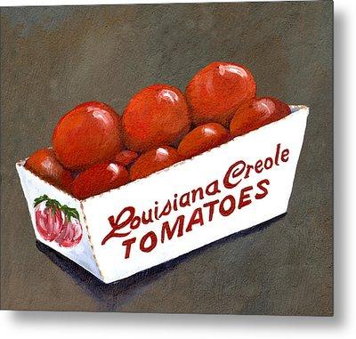 Louisiana Creole Tomatoes Metal Print by Elaine Hodges