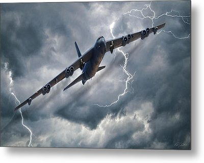 Louisiana Lighting Metal Print by Peter Chilelli