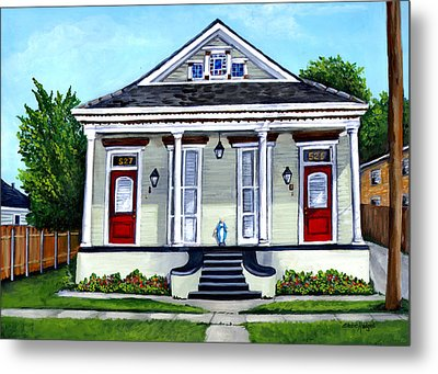 Louisiana Shotgun Double Metal Print by Elaine Hodges