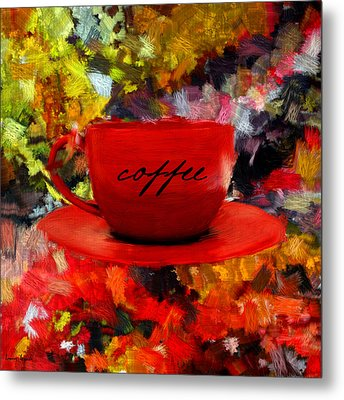 Love At First Sip Metal Print by Lourry Legarde