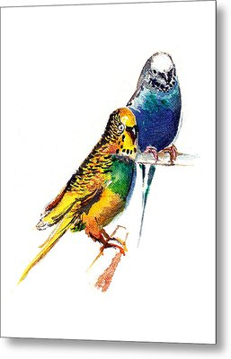 Love Birds Metal Print by Anil Nene