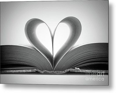 Love Book Metal Print by Delphimages Photo Creations