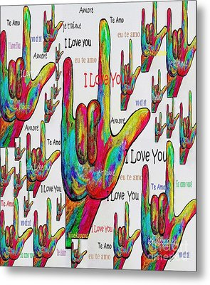 Love In Any Language Metal Print by Eloise Schneider