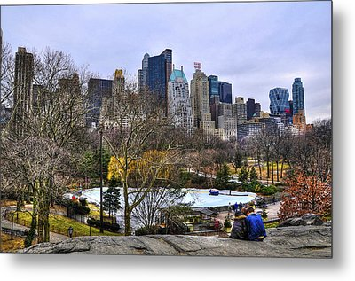 Love In Central Park Too Metal Print by Randy Aveille