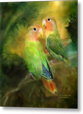 Love In The Golden Mist Metal Print by Carol Cavalaris