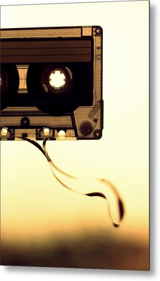 Love Is A Mixed Tape Metal Print by Taryn