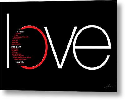Love Is And Does Metal Print by Shevon Johnson