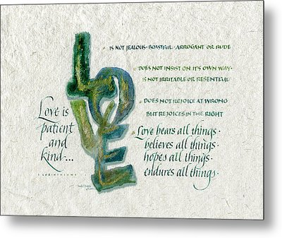 Love Is  Metal Print by Judy Dodds