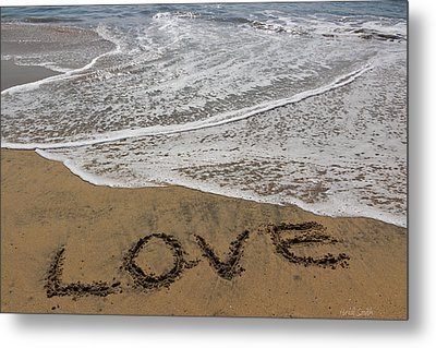 Love On The Beach Metal Print by Heidi Smith