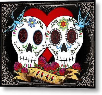 Love Skulls II Metal Print by Tammy Wetzel
