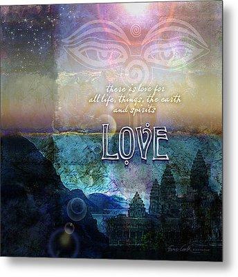Love Spiritual Metal Print by Evie Cook