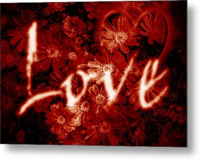 Love With Flowers Metal Print by Phill Petrovic