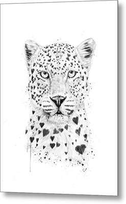 Lovely Leopard Metal Print by Balazs Solti