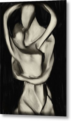 Lovers Embrace Metal Print by David Ridley