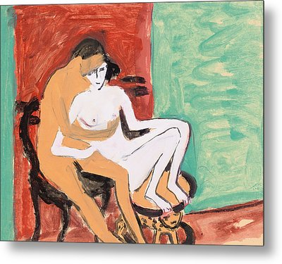 Lovers Or Young Couple Metal Print by Ernst Ludwig Kirchner