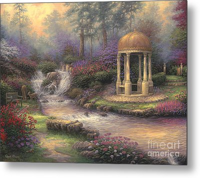 Love's Infinity Garden Metal Print by Chuck Pinson