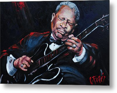 Lovin Lucille B B King Metal Print by Carole Foret