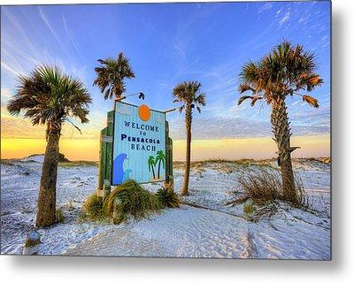 Loving Pensacola Beach Metal Print by JC Findley