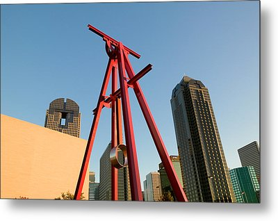 Low Angle View Of A Sculpture, Dallas Metal Print by Panoramic Images