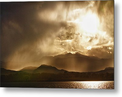 Low Clouds On The Colorado Rocky Mountain Foothills Metal Print by James BO  Insogna