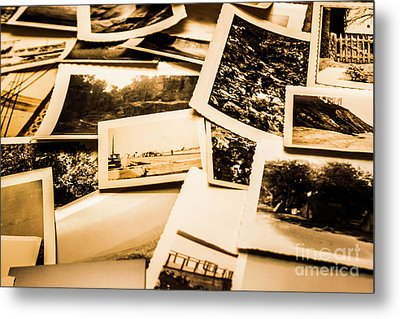 Lowdown On A Vintage Photo Collections Metal Print by Jorgo Photography - Wall Art Gallery