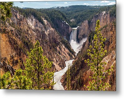 Lower Yellowstone Canyon Falls 5 - Yellowstone National Park Wyoming Metal Print by Brian Harig