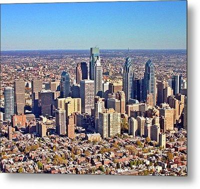 Lrg Format Aerial Philadelphia Skyline 226 W Rittenhouse Sq 100 Philadelphia Pa 19103 5738 Metal Print by Duncan Pearson