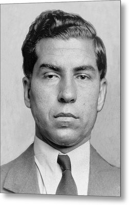 Lucky Luciano 1896-1962 Was Imprisoned Metal Print by Everett