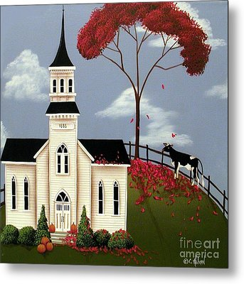 Lulabelle Goes To Church Metal Print by Catherine Holman