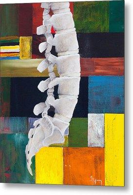 Lumbar Spine Metal Print by Sara Young